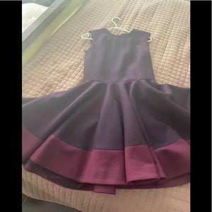 Alexander Mcqueen burgundy dress